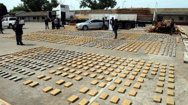 Secuestraron 1.200 kilos de marihuana que estaban ocultos en cunas de madera