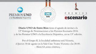 Alejandro fue distinguido este año por Diario UNO de Entre Ríos.