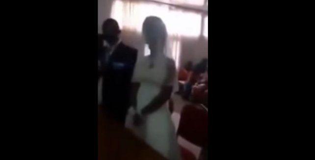 De no creer: la amante del novio apareció en plena boda vestida de blanco