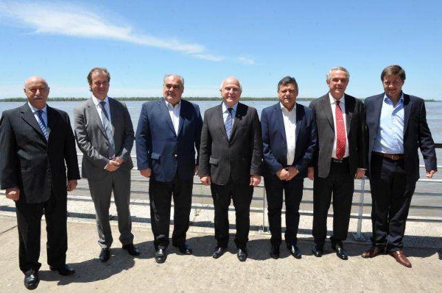 Bordet se comprometió a impulsar el desarrollo de la Hidrovía Paraguay-Paraná