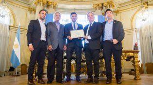 Cubero fue distinguido por la Legislatura porteña