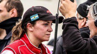 Natalia antes de correr en el TC Regional.