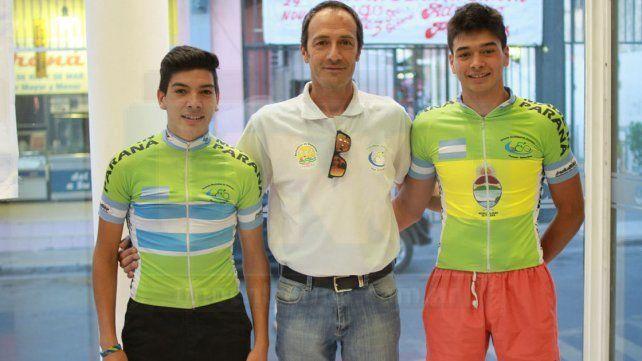Antes de concentrar con la Selección Argentina los jóvenes ciclistas pasaron por UNO.