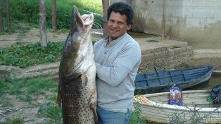 Sacó un surubí de 53 kilos