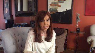 Cristina grabó un video en Río Gallegos y lo subió a YouTube