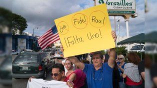 En La Pequeña Habana hay festejos por la muerte de Fidel