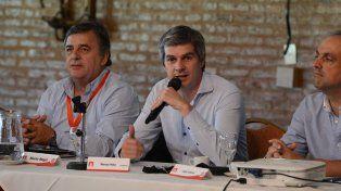 Molestos. El radical Negri y el macrista Peña no ocultaron su fastidio con los senadores del FPV.