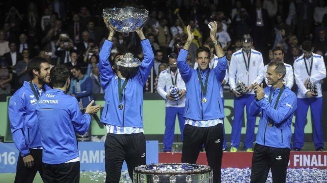Los campeones de la Copa Davis celebrarán en Buenos Aires la histórica conquista