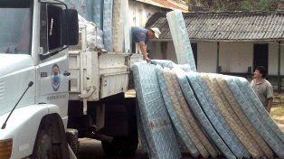 Llegó la ayuda a las ciudades más afectadas por la lluvia y el viento