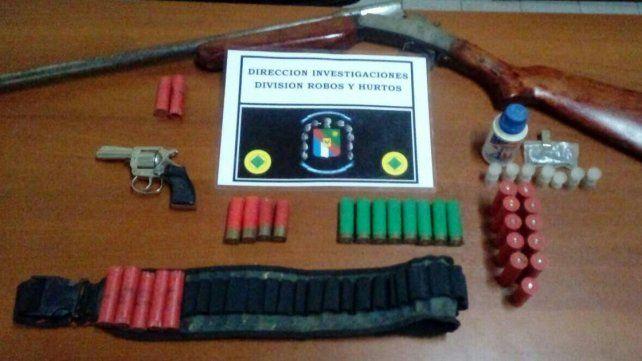 Peligro. Se secuestró el armamento ante las amenazas de muerte.