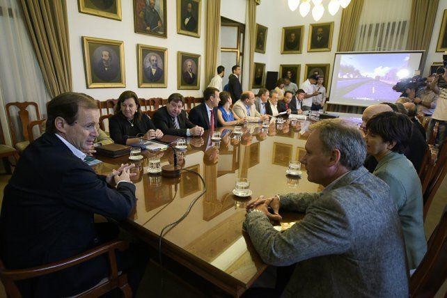 Bordet encabezó la reunión en Casa de Gobierno.