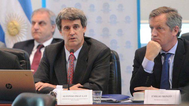 Alfonso Prat Gay junto al diputado Emilio Monzó.