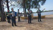 Los Palmeras grabaron en el balneario municipal de Paraná