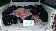 secuestraron mas de 400 kilos de carne de cerdo en la ruta nacional 18