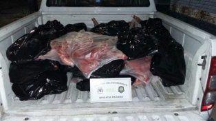 Secuestraron más de 400 kilos de carne de cerdo en la ruta nacional 18