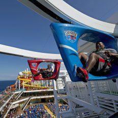 Pedaleando en las alturas del crucero.