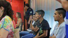 Acusados del crimen en Bajada Grande de Paraná.