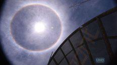 Así se veía el cielo hoy a las 12.24. Foto UNOJuan Ignacio Pereira.