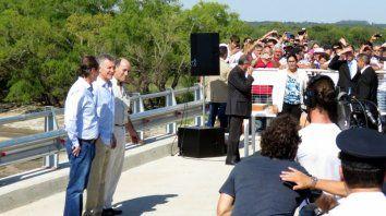 el blooper de macri en la inauguracion del puente en urdinarrain