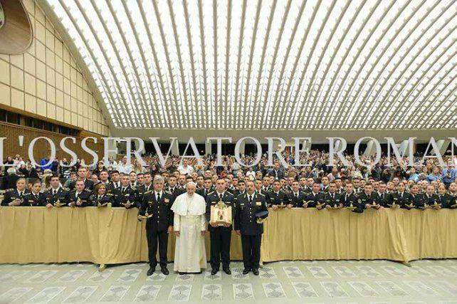 El Papa recibió a policías entrerrianos