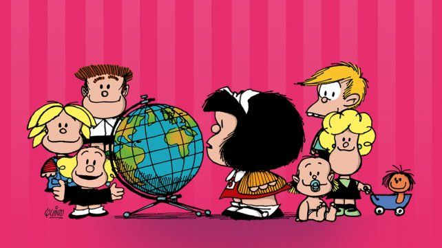 Quino pidió que le saquen el pañuelo celeste a Mafalda