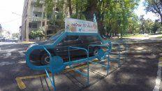 Hoy el estacionamiento desierto. Foto UNO.