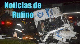 Triple choque de camiones dejó un muerto y dos heridos