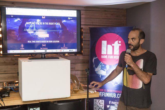 Podés entrar a HaveFunHub desde cualquier dispositivo conectado a Internet y chequear la movida. Foto Gentileza Agustín Zuttión.