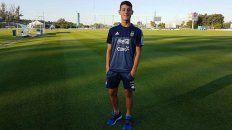 Tomy Chancalay ya estuvo entrenando con el equipo Albiceleste.