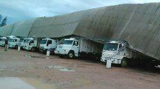 el fuerte temporal causo destrozos y evacuados en la provincia