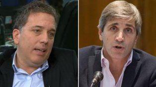 Nicolás Dujovne (ministro de Hacienda) y Luis Caputo (ministro de Finanzas).