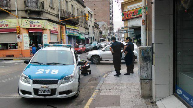 Por un accidente de tránsito, calles del microcentro permanecieron cortadas