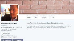 Ahora protegió su cuenta en Twitter.