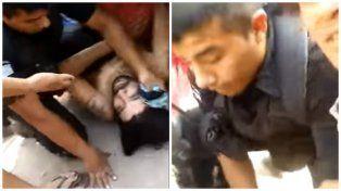 Un policía fusiló a un joven de un itakazo en la cabeza y su familia lo grabó todo