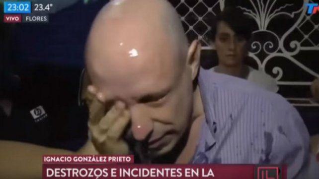 Así agredieron a periodista de TN en la cobertura de la comisaría de Flores