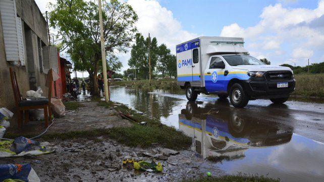 Una postal de la inundación en Pergamino.