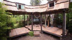 La casa que construyen con sus manos Tani y Rodo. Foto UNO Juan Ignacio Pereira.