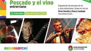 Víctor Heredia y de Peteco Carabajal actuarán en la Fiesta del pescado y el vino entrerriano