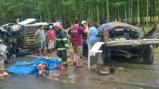 Un choque frontal entre un auto y una camioneta provocó otra muerte en la Autovía Artigas