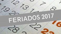 feriados 2017: el calendario para lo que resta del ano