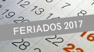 Feriados 2017: cambios y nuevas fechas para agendar