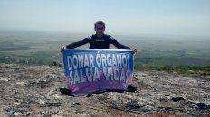 el joven de urdinarrain que recibio trasplante bipulmonar escalo 500 metros