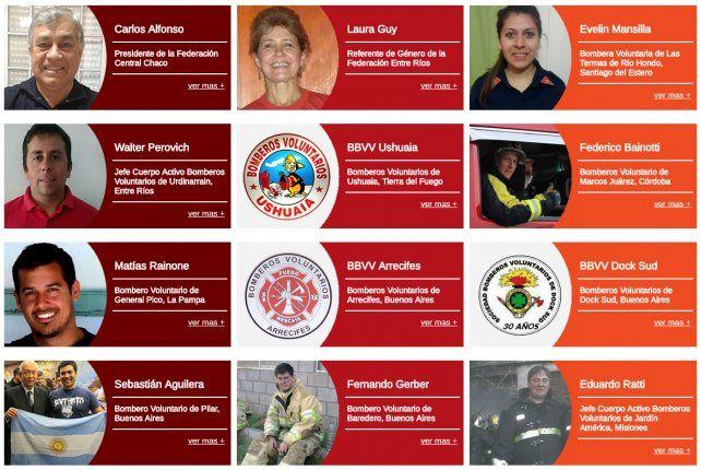 Dos bomberos entrerrianos entre los mejores del 2016