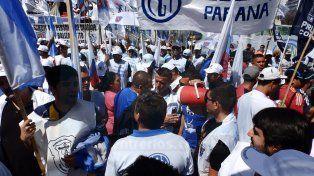 Marcha. La CGT Paraná