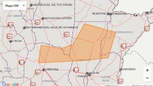 Emiten un alerta a corto plazo por tormentas fuertes para el norte entrerriano