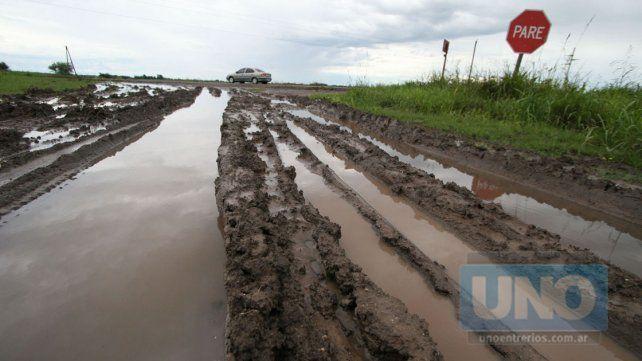 El estado de los caminos entrerrianos tras las lluvias
