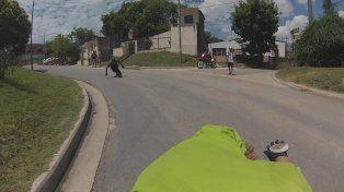 Una captura de pantalla de la cámara a bordo de Augusto Ruedas.