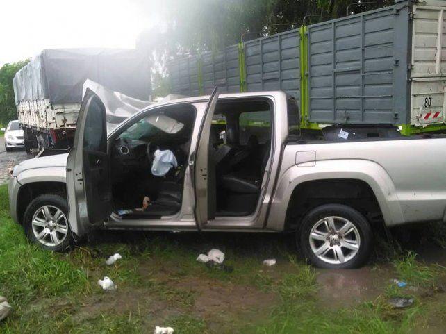Accidente con suerte en la ruta 12 cerca de La Paz