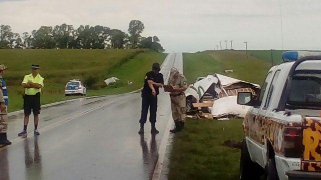 Las rutas entrerrianas, escenario de accidentes bajo lluvias torrenciales