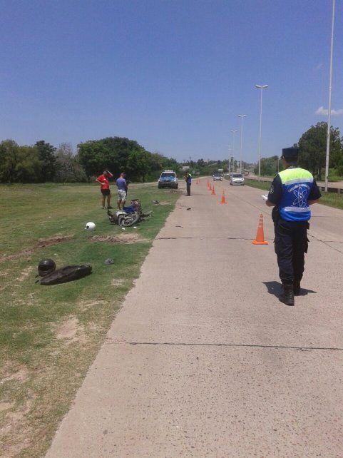 Motociclista herido en Circunvalación